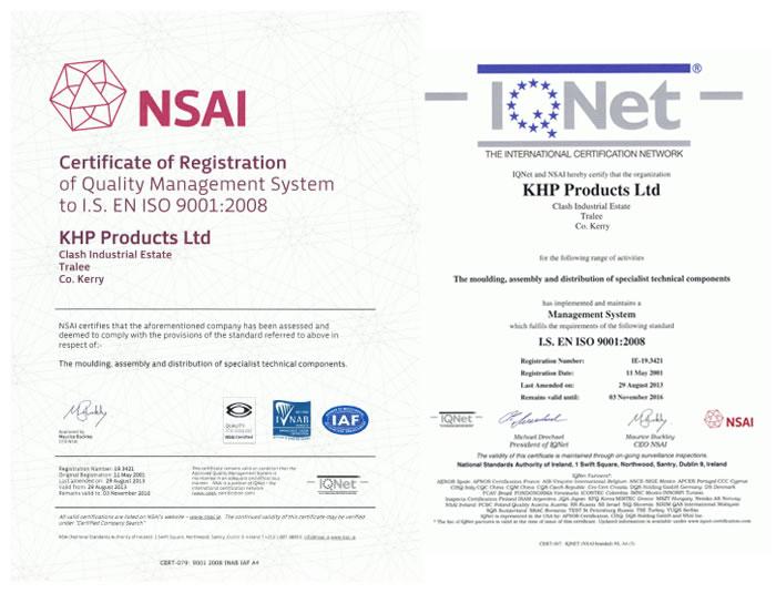 KHP Quality Assurance Certificates